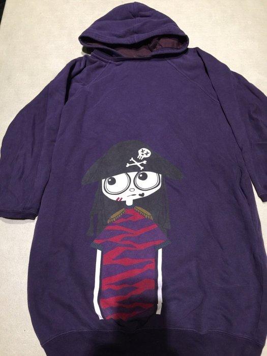 二手 Little Marc Jacobs 馬克小姐 紫色連帽 長上衣 連身裝 女童