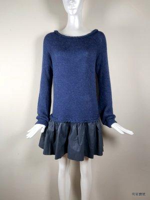 [我是寶琪] Thakoon Addition 藍色毛衣皮革裙子 洋裝