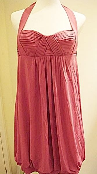出清大降價!全新美國名牌 BCBG MAXAZRIA 暗粉紅色露背綁帶設計款背心上衣,低價起標無底價!本商品免運費!