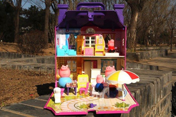 【溜。溜。選物】佩佩豬家家酒玩具套裝@豪華紫色別墅