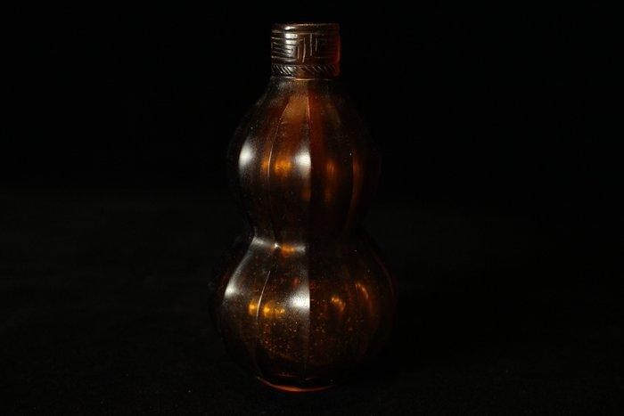悅年堂 --- 琉璃 料器 多棱葫蘆瓶