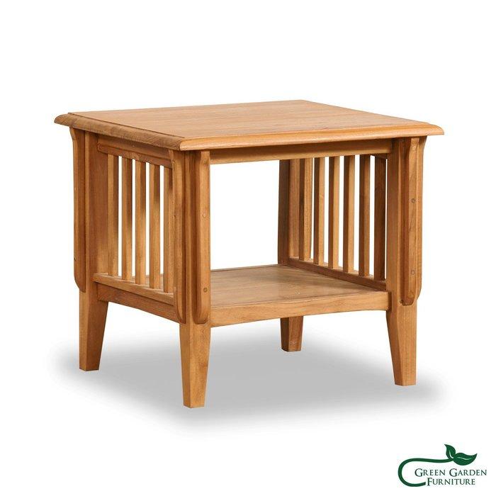 伊凡思 柚木邊桌(原色)【大綠地家具】100%印尼柚木實木/無上漆原木款/實木邊几
