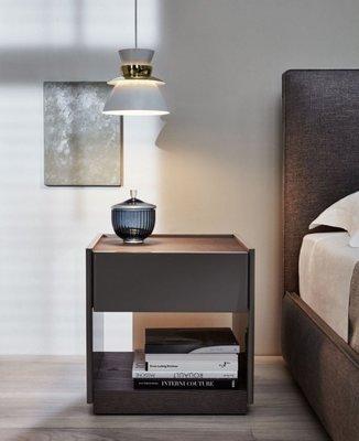 [米蘭諾家具]複刻Molteni & C 床頭櫃 設計師款邊櫃 邊几 超有質感的 台灣製造