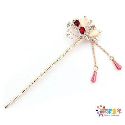 蘭廷飾佳蝴蝶簪子古典古風頭飾古代古裝髮飾韓國版盤髮飾品髮簪女