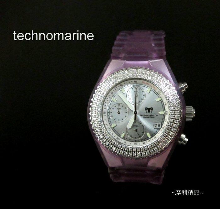 【摩利精品】Technomarine sport天寶運動鑽石計時錶*真品*