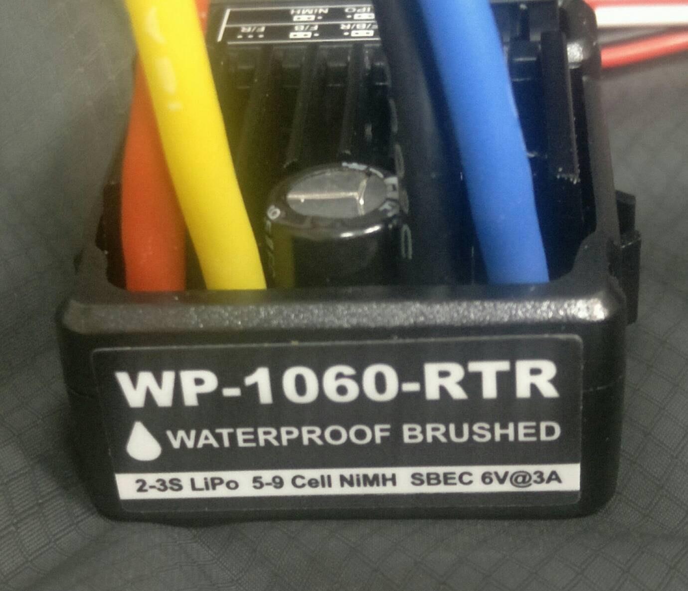 好盈代工 WP-1060- 車用60A-360A防水碳刷電變 BEC 6V 3A 含開關 田宮接頭