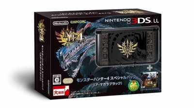 3DS 3DS LL 魔物獵人4 MH4 限定版 日規主機 (不含充電變壓器)  日版 全新品