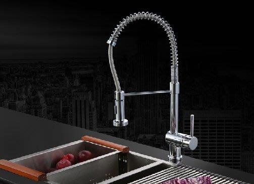 超豪華全方位彈簧厨房水龍頭-冷熱抽拉水龍頭