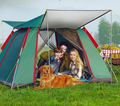 『格倫雅品』探險者全自動帳篷戶外二室一廳3-4人加厚防雨2人單人野外露營野營
