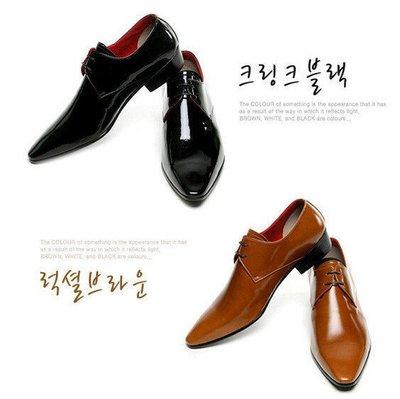 **蛻變英倫**韓國 紐約 歐美頂級款時尚英倫風真皮瘦版尖頭皮鞋男士休閒鞋潮流行男鞋子商務韓版潮鞋