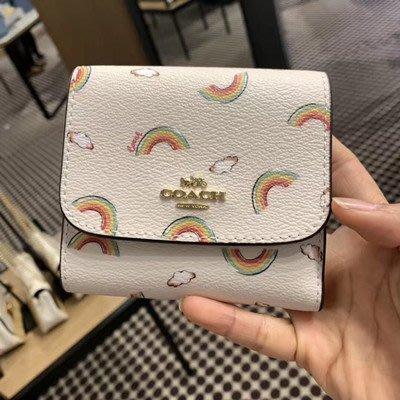 (Outlet特惠)COACH 73478 新款女士卡通短款零錢包 三折短夾 手拿包 附代購憑證