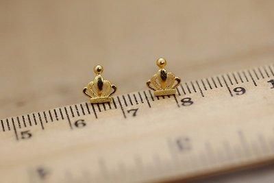 看山美物·玉器 耳飾 999黃金 足金 皇冠釘 耳針1支的價格