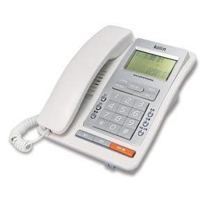 歌林來電顯示型有線電話機~白色/深灰色 KTP-703L