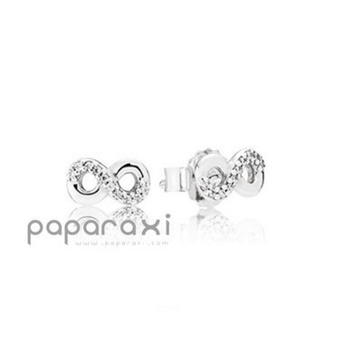 美國代購 PANDORA INFINITE LOVE STUD EARRINGS 潘朵拉 母親節新品 無限的愛 純銀耳環