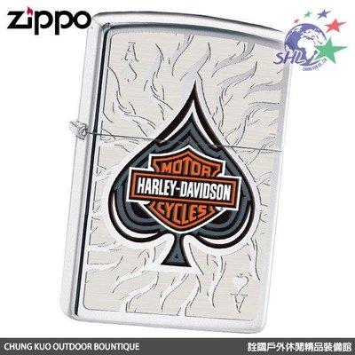馬克斯 ZP446 Zippo 美系經典 Harley Davidson 哈雷 - 黑桃Ace / NO.28688