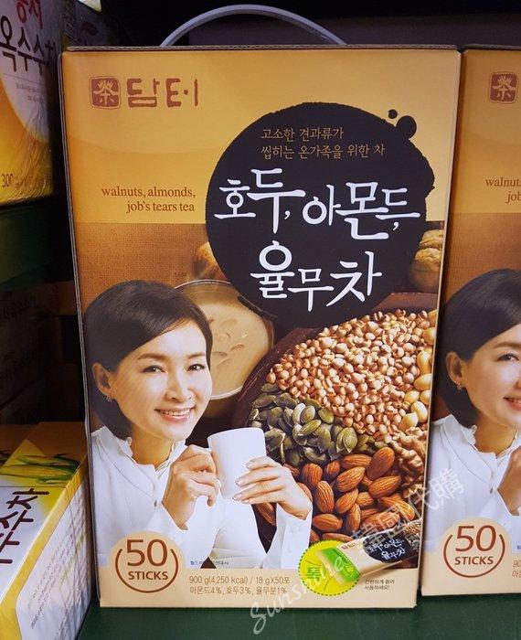 限量現貨 韓國 DAMTUH 丹特 核桃杏仁薏米茶 穀物堅果飲 沖泡飲品 50入