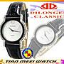 【天美鐘錶店家直營】【下殺↘一對超低價有保固】全新原廠公司貨DILONGER-對錶-鑲『施華洛世奇』鑽