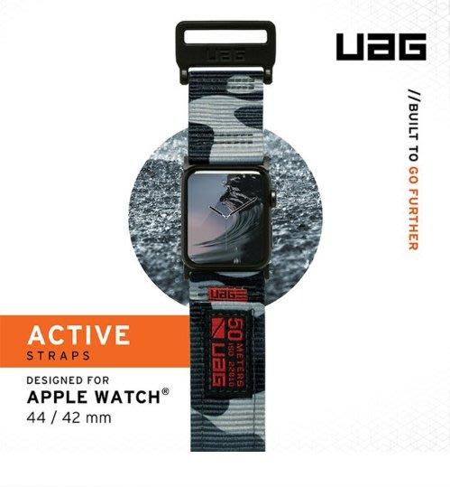 UAG Apple Watch 時尚錶帶 42/44mm 魔鬼氈 反覆使用 不鏽鋼