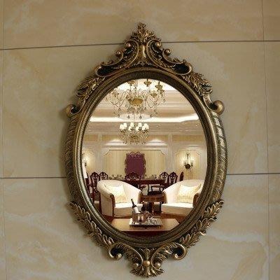 999歐式浴室鏡子 壁挂美式衛生間梳妝台鏡美容院化妝鏡複古玄關裝飾鏡YC219