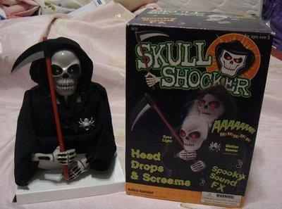 全新 萬聖節酷炫 骷髏頭整人玩具