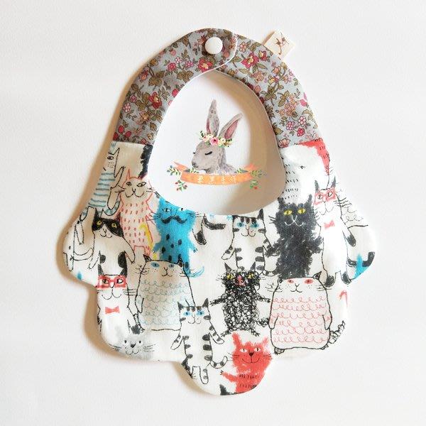 米咕手作 △ 寶寶六重紗 圍兜兜 / 口水巾 / 領巾 |很多貓咪|