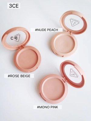 Beautiful 〖咩〗少女滿滿!3CE春夏單色腮紅 蜜桃南瓜nude peachrose beige