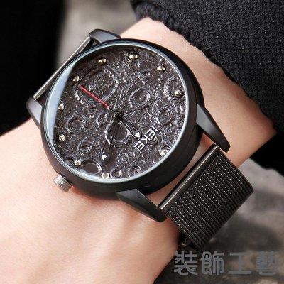 簡約非主流男士手錶 潮流個性時尚皮帶防...