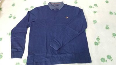"""FRED PERRY MEN""""S LONG SLEEVE POLO SIZE L $ 600"""