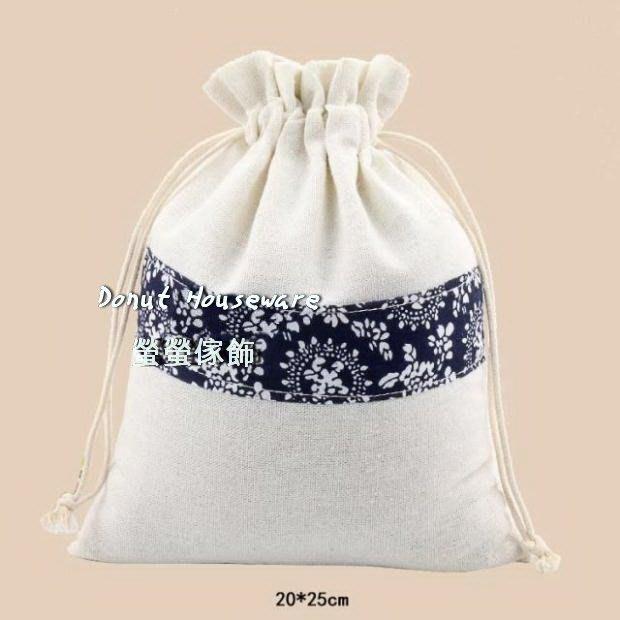 【螢螢傢飾】20 x 25 束口袋,帆布袋,防蚊袋,棉麻布袋, 拉繩袋  萬用收納袋, 包裝袋