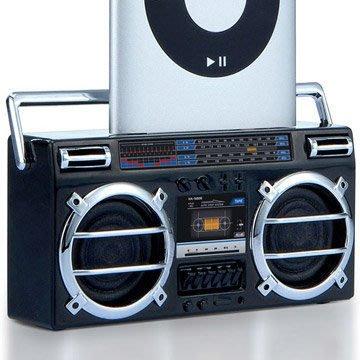 《鬼月破盤》iPod 系列專屬的迷你小喇叭(2色可選)! 復古的手提音響造型,iPhone蘋果也適用