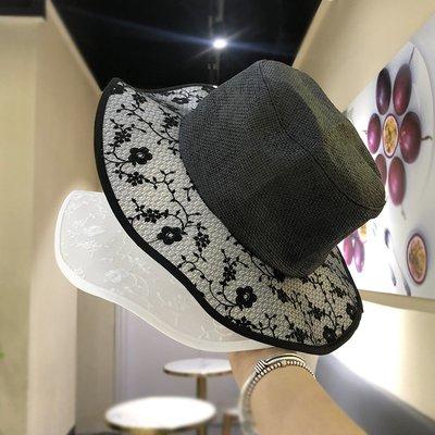 漁夫帽 盆帽-純色優雅鏤空蕾絲女帽子2色73xu29[獨家進口][米蘭精品]