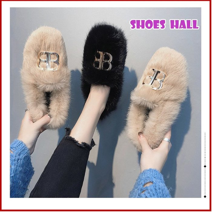 鞋館Shoes hall【S13606】優雅品味~ 奢華暖暖平底包鞋~2色