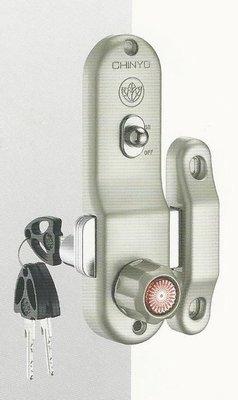 青葉牌鋁門鎖 HCS002a 767三代鋁門鈎鎖 橫拉門用 1000型 鎖管長52mm 排片鑰匙