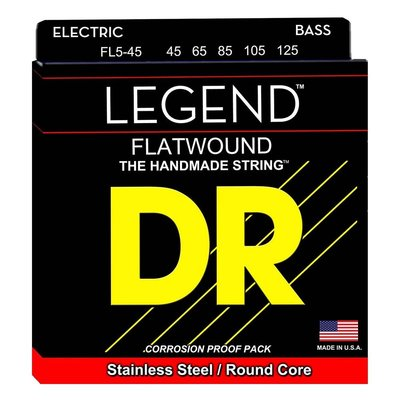 【幫你買】DR Strings - LEGEND - Flat Wound Bass Guitar Strings - 5 String - Med