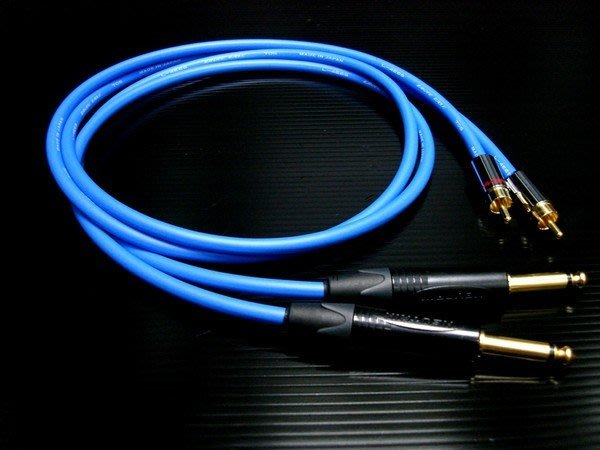 ((線材小舖)) DJ專用 日本工藝 CANARE四芯 NEUTRIK鍍金6.3轉RCA 高級訊號線