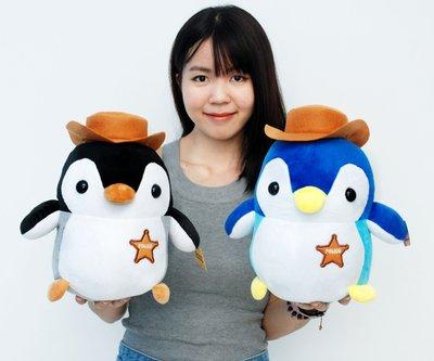 娃娃夢幻樂園~超萌企鵝娃娃~企鵝警長~企鵝玩偶~高32cm~生日禮物~全省宅配