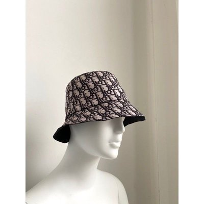 Dior 黑色棉質Oblique印花 桶帽 漁夫帽