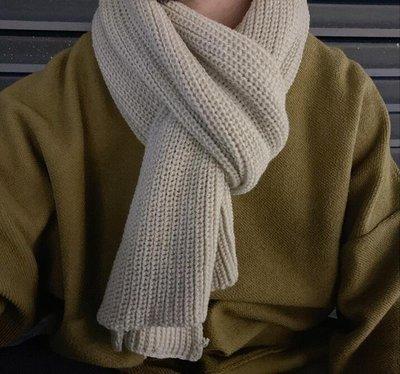 圍巾男生冬季韓版百搭簡約針織日系個性潮牌潮流純色加厚 【全館限時免運】