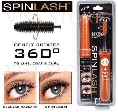 Spinlash 360度【女人我最大介绍】雙向旋轉電動睫毛刷刷睫毛 非睫毛膏假睫毛筆刷 加長眼睫毛 下睫毛刷 睫毛梳