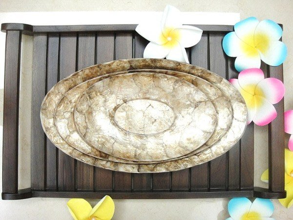 Y【永晴峇里島】巴里島風橢圓形貝殼盤,增添異國風味,居家,民宿,飯店都好用-盤14