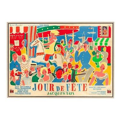 ┎笨笨豬┒ 港畫 JOUR-DE-FETE五彩繽紛治愈擺件小眾壁畫手繪人物合照裝飾畫JS65