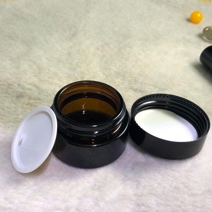 面霜瓶 茶色面霜瓶空瓶 20g 化妝品分裝瓶 乳液分裝  精油瓶 自製乳液小容量分裝罐玻璃面霜