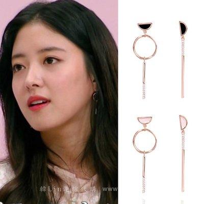 【韓Lin代購】韓國 GET ME BLIN- 明星同款抗敏925銀針耳環 HALF MOON DROP