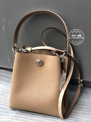 2020春夏 全新正品 COACH 89101 杏色銀釦 charlie bucket bag 21 新尺寸LV款水桶包