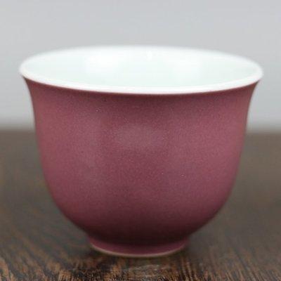 ㊣姥姥的寶藏㊣上海市博物館一九六二年款紫釉杯古玩古董老貨舊貨民間收藏送禮