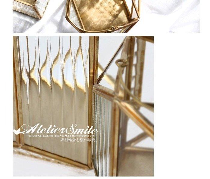 [ Atelier Smile ] 鄉村雜貨 北歐風 / 金屬家飾系列 / 玻璃風燈 / 燭台 # I款 (現+預)