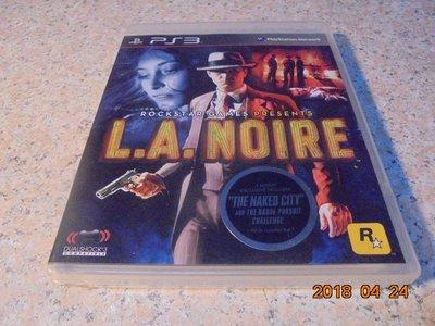PS3 黑色洛城 L.A.NOIRE 英文版 直購價300元 桃園《蝦米小鋪》