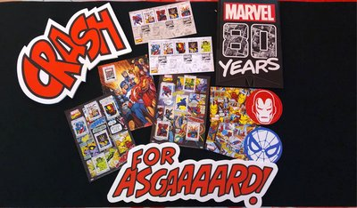 Marvel 80 years anniversary stamp set, limited edition, only 10,000 sets