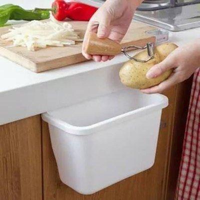 糖果色創意廚房垃圾儲物盒 流理台桌面垃圾收納盒 廚房櫃門掛式垃圾盒 雜物盒 廚櫃門掛式垃圾桶