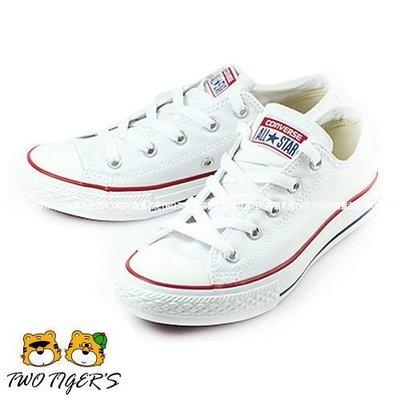 CONVERSE ALL STAR 白色 低筒 基本款帆布鞋 中大童 NO.Q5831